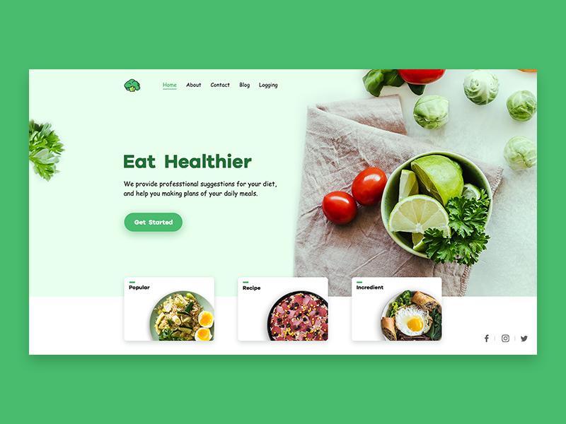 A food page ui