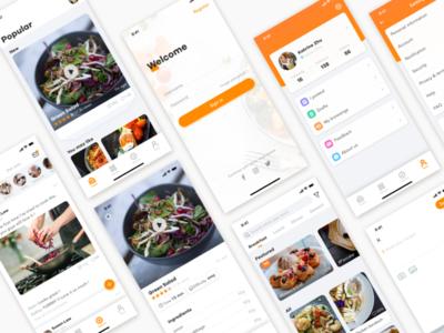Concept design of cookbook app ui design