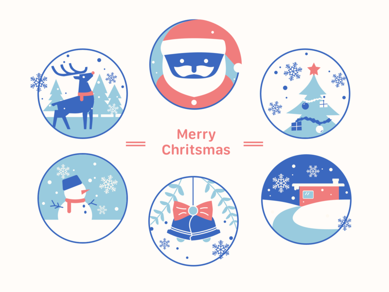 christmas vector sketch illustration