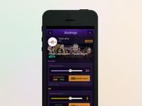 Night Life App - Bookings