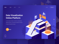 Data Visualization Online Platform Concept