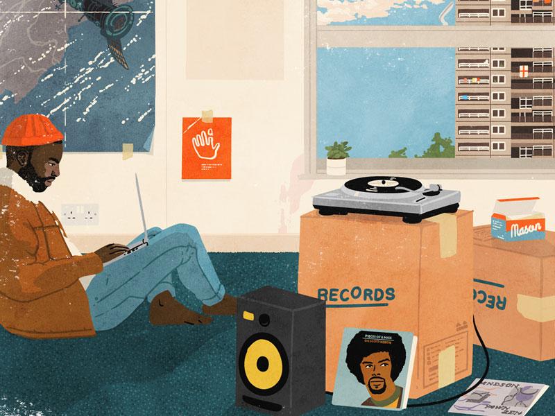 Touching Bass 001 by Mason London on Dribbble
