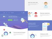 Landing Page - Social App