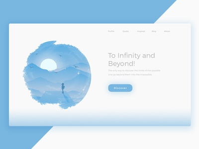 Landing page - Infinity website landingpage ui onboarding mobile galaxy ios illustration montain android animation