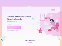 Landing page - Women's Store Indonesia