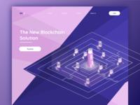 Blockchain Web Concept