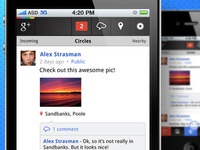 Google+ iPhone App - Stream screen