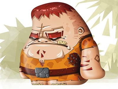 Stone Age Dude Front illustration photoshop stone age concept art digital art