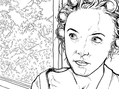 Work in progress photoshop illustration outline