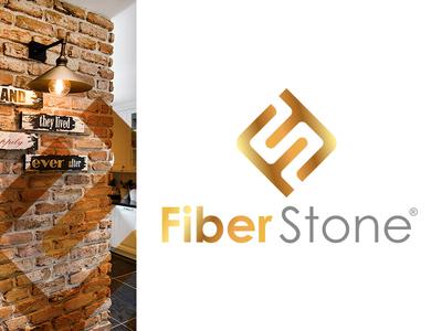 Fiber Stone Wall Panel gold brand logo stone fiber