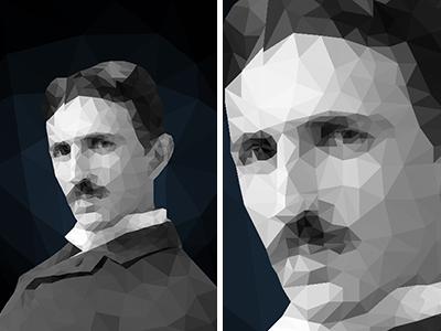 Nikola Tesla Polygon Portrait