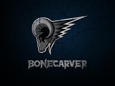 Bonecarver Rock Band Logo effects animal music band rock grunge illustrator logo angry horns ram bonecarver