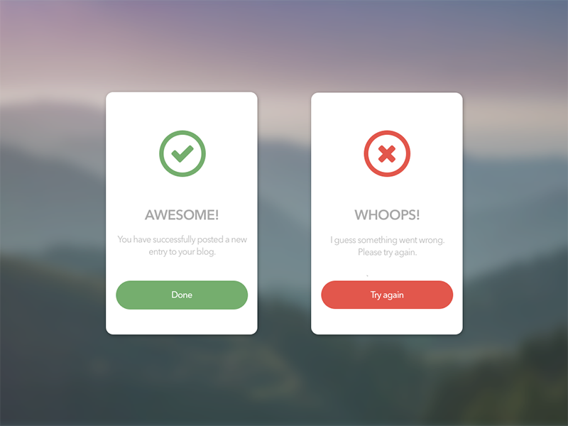 Flash Message user interface user experience popup window ux ui sketch design dailyui message flash success error