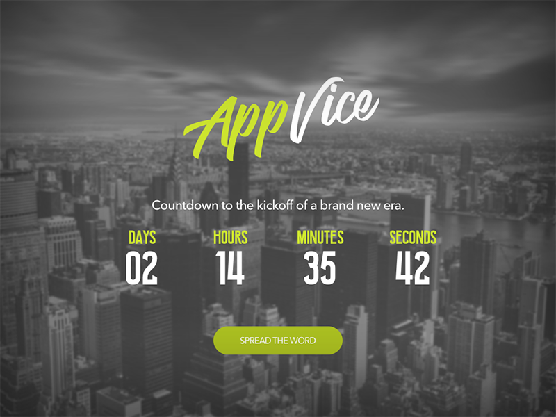 Countdown Timer user interface user experience web ux ui sketch landing launch timer countdown design dailyui