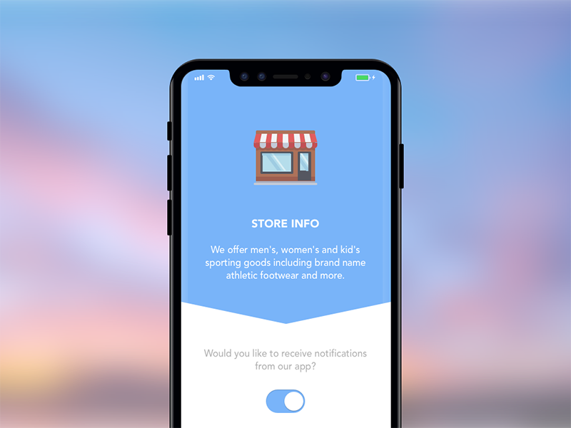 On/Off Switch on off iphone x ui sketch ux mobile switch ios flat design dailyui app