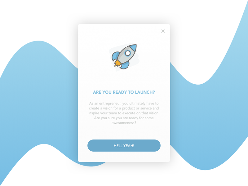Pop Up Overlay user experience user interface ux ui switch sketch overlay popup clean flat design dailyui