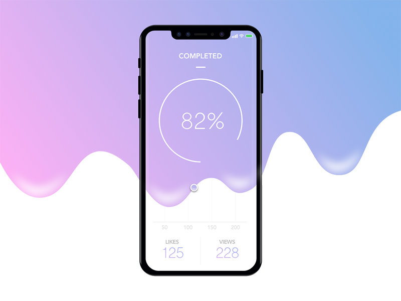 Analytics Chart App user interface user experience iphone x ux ui sketch mobile ios analytics design dailyui app