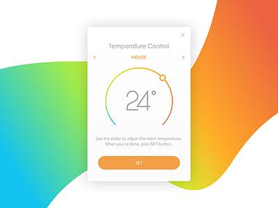 Heat Temperature Control user interface user experience temperature ui heat sketch monitor control flat design dailyui clean