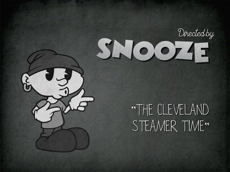 20s Cartoon Themed Intro black and white color grey snooze illustration design drawing intro boy character comic cartoon