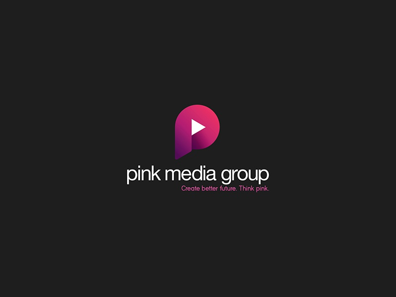 Pink Media Group Logo brand mark