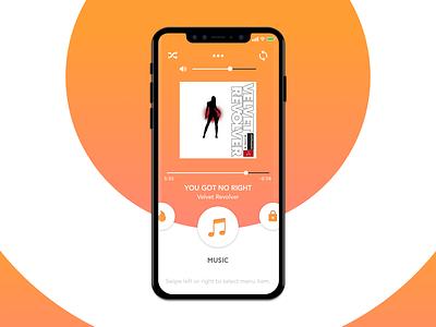 Smart Home App - Music Players sound gradient orange velvet revolver player app smart home music ux ui