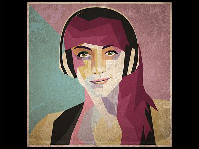 Polygonal Portrait vector illustrator square portrait illustration grunge poly polygonal
