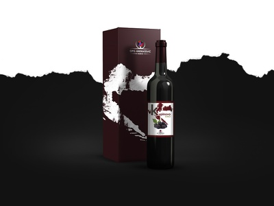 OPG Andrasevic -Wine Label and Packaging box packaging label wine graphic design branding brand