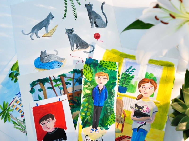 Illustration for kids's book colorwater painted paintings kids book kids paint handmade typography illustrations design drawing illustration art dinksy graphic