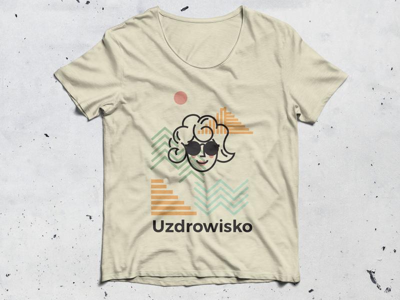 DINKSY illustration on T-shirt mockup t-shirt mockup template t-shirt mockup t-shirt design typography illustrations design drawing illustration art dinksy graphic