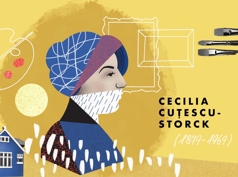 Scene from video explainer about Cecilia Cutescu-Storck collageart motion animaton motion animation collage motion graphic illustrations design explainer video video explainer drawing illustration art dinksy graphic