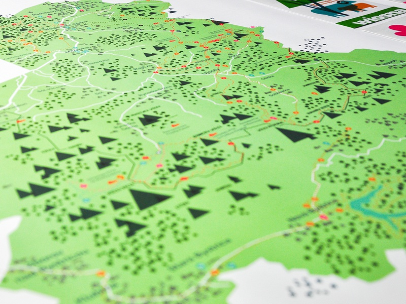 Map for Beskid Zywiecki legend icon mountains peak peaks map branding dinksy illustrations illustration graphic art