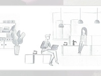 Storyboard from motion graphic Mikomax