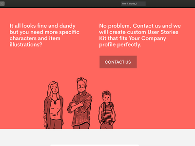 Landing page for User Stories