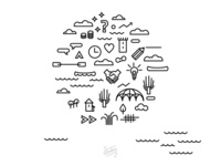Infographic with icons