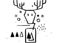 DINKSY Doodle with deer