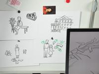 Storyboard from video explainer about Janusz Korczak