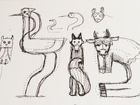 Sketch for animal typography for Polish Embassy in Israel