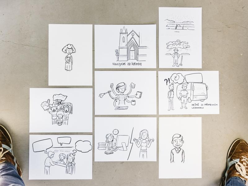 Illustrations for manual book handmade design marker illustrations drawing dinksy illustration graphic art teaching manual book