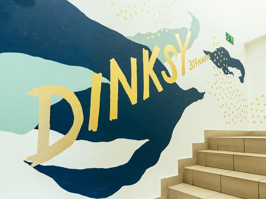 DINKSY mural wall painting handmade typography design graffiti drawing illustration dinksy graphic art mural