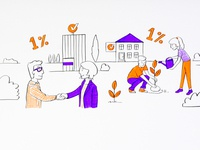 Illustration from whiteboard animation for PITax