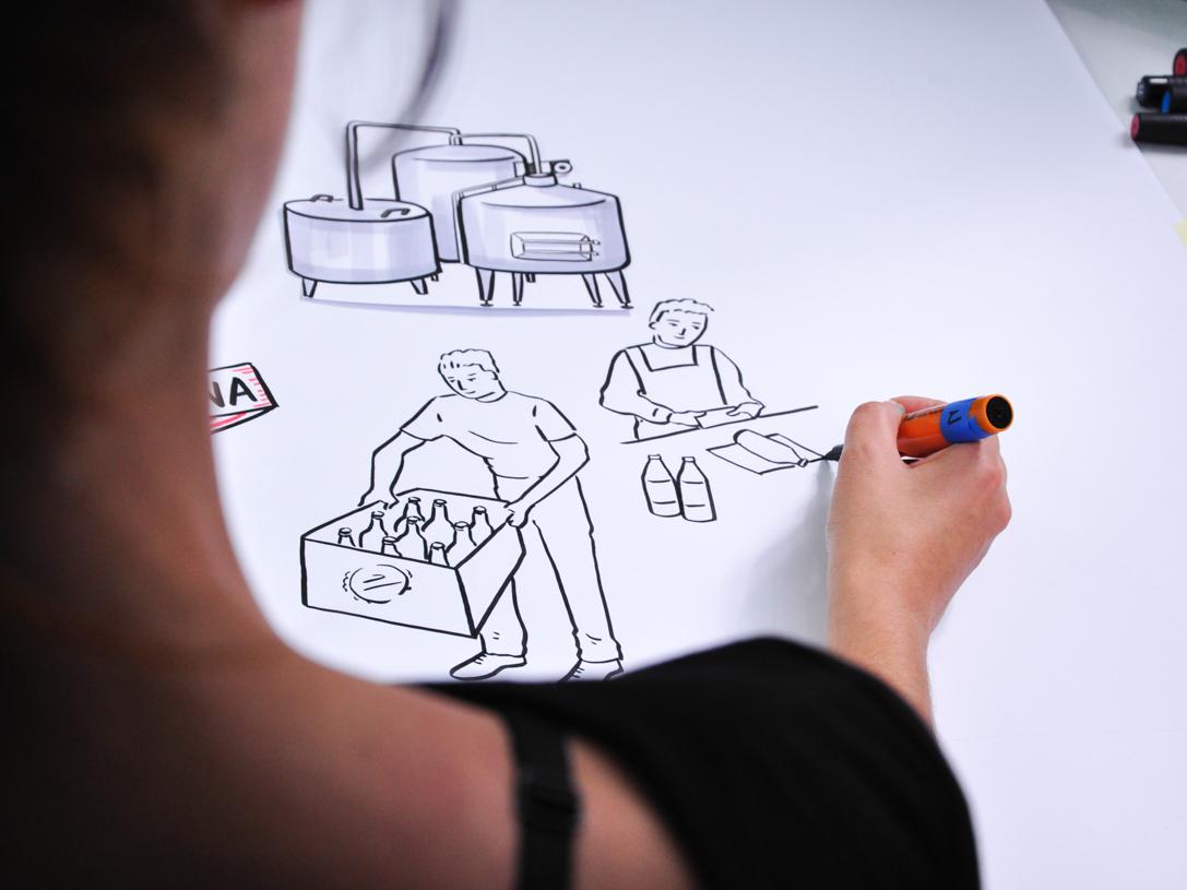 Scene from video explainer video explainer explainer video whiteboard handmade marker design illustrations drawing illustration dinksy graphic art