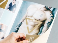 Project of catalogue with underwear for men