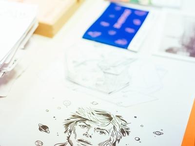 Dawid Bowie - sketch