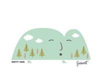 Illustration with Polish peaks for Fifi Studio