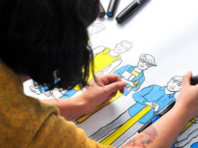 Explainer video about Oskar Zieta whiteboard marker design typography illustrations drawing explainer video video explainer illustration dinksy graphic art