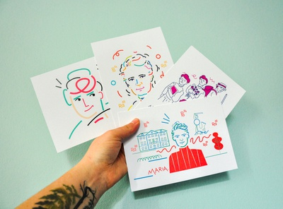 Postcards with Marie Sklodowska-Curie