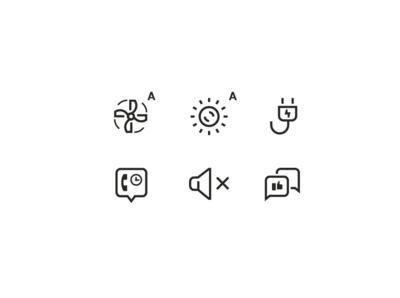 Icons for Hush
