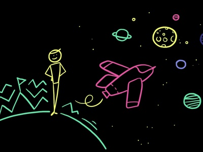 Blackboard from explainer video for European Researchers Night animation blackboard animation marker handmade video explainer explainer video art design drawing illustration dinksy graphic