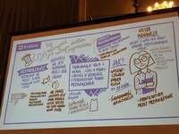 Graphic recording about education