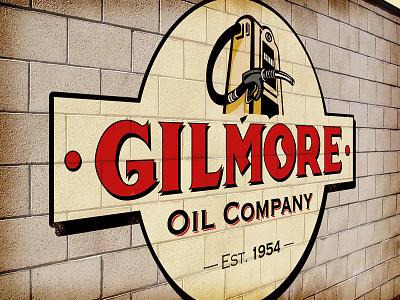 Gilmore Oil Company logo brand oil type old school retro vintage custom illustration vector